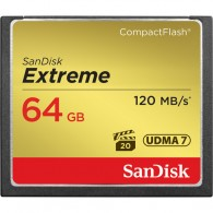 Cartão Compact Flash (CF) Sandisk 64gb Extreme 120MB