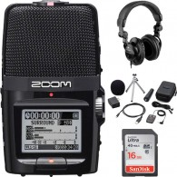 Kit Gravador Digital Zoom H2n + Aph-2n + Fone Polsen