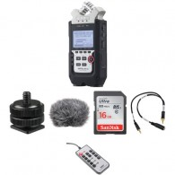 Kit Gravador De Audio Digital Zoom H4n Pro com Acessórios