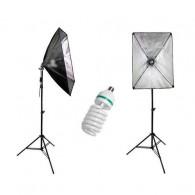 Kit Estúdio Softbox 50x70cm + Lampada 135w + Tripé Newborn 110v