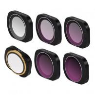 Kit Filtros Para Osmo Pocket Uv Cpl Nd Com Case E Flanela