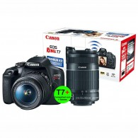 Kit Premium Canon Eos T7+ com 18-55mm + 55-250mm IS