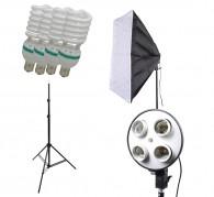 Kit de iluminação P/ Estúdio Quadruplo 60x60 340w 110v