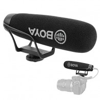 Microfone Boya BY-BM2021 Cardioide Para Smartphone e DSLR