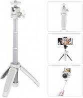 Mini Tripé Mt-08 Bastão Selfie Retratil Smartphone - Branco