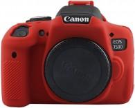 Case Silicone Proteção Canon T6i/T6s/750d/760d - Vermelha