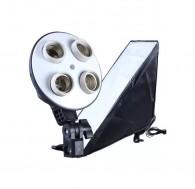 Softbox 60x60cm C/ Soquete Quadruplo Bivolt Para Kit Estúdio