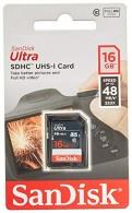 Cartão SD 16gb Sandisk Ultra 48mb/s