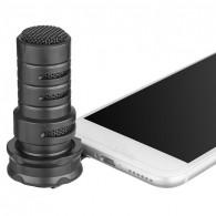 Microfone Condensador Boya BY-A7H Para Smartphone Iphone