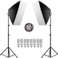 Kit Iluminação Estúdio Greika Uno Duplo 1200w Softbox - 110v