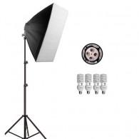 Kit Iluminação Estúdio Greika Uno Simples 600w Softb - 110v