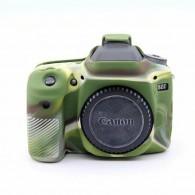 Capa / Case Silicone Para Proteção Canon 80d Camuflada