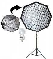 Kit Soft Light 135w Octogonal Luz Continua Agatá III