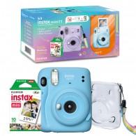 Kit Câmera Instax Mini 11 + Filme + Bolsa - Azul