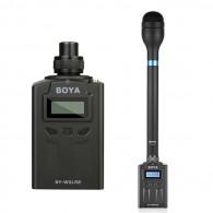 Microfone Entrevista S/ Fio Boya BY-HM100 + Transm. BY-WXLR8