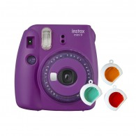 Câmera Instantânea Instax Mini 9 Com 3 Filtros - Roxo Açaí