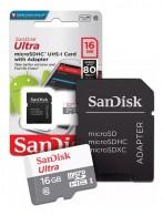 Cartão MicroSD 16gb Sandisk Ultra 80mb/s