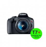 Câmera Canon Eos T7+ Plus c/ 18-55mm (Compatível + Flashes)