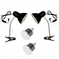 Kit Iluminação 100w P/ Análise Cromática Soquete Articulável