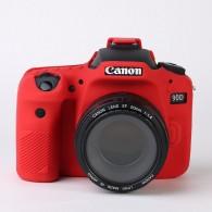 Capa / Case Silicone Para Proteção Canon Eos 90d - Vermelho