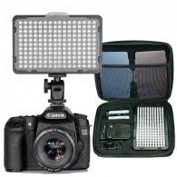Iluminador Profissional 176 Led + Np-f550 + carregador + case