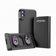 Capa / case para Iphone Xs Max com lentes Macro Fisheye Zoom