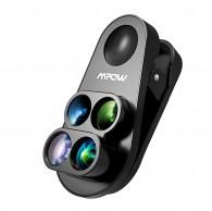 Kit lente 4 em 1 Para Iphone com Macro olho de peixe Zoom