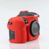 Capa / Case Silicone Para Proteção Nikon D7500 Vermelha