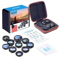 Kit 10 Lentes Cristal Para Celular Smartphone Com Case