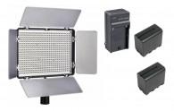Iluminador De Led Tl-600a Com 2x Bateria F970 + Carregador