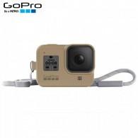 Capa Silicone Sleeve GoPro Hero 8 Black + Cordão Layard - Areia