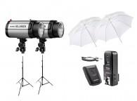 Kit De Estúdio Fotografico Flash Tocha Godox 250di 110v 500w