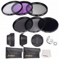 Kit Filtros 55mm Uv Cpl Fld Nd (nd2 Nd4 Nd8) Com Bolsa