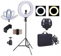Iluminador Ring Light Rl-12 Maquiagem Cílios + Tripé + Suporte