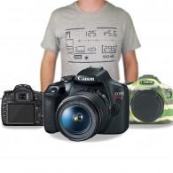 Kit Canon T7 C/ 18-55mm + Case Silicone + Pelicula + Camisa Fotografo