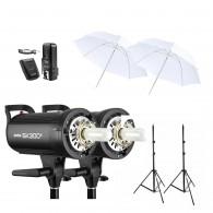Kit 2x Tocha Godox Sk300 Ii Digital P/ Estúdio 600w 110v