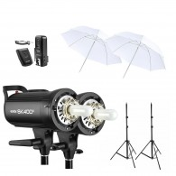 Kit 2x Tocha Godox Sk400 Ii Digital P/ Estúdio 800w 110v