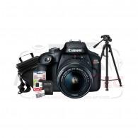 Kit Canon Rebel T100 com 18-55mm + Tripé de 1,80 + Cartão 32gb + Case