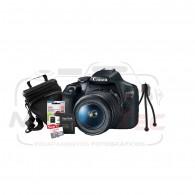 Super Kit Canon Rebel T7 Com 18-55mm + Tripé + Cartão 32gb + Bolsa