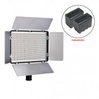 Iluminador Led Mamen KM-600A com Bateria NP-F970