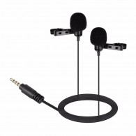 Microfone Lapela Duplo Boya By-lm400 P/ Smartphones Plug