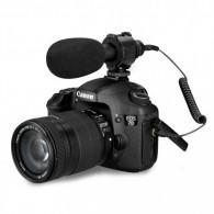 Microfone Shotgun Direcional Boya By-pvm50 Para Câmera Dslr