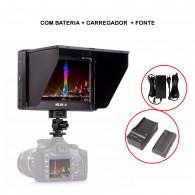 Monitor 4k Viltrox Dc-70ii Completo Com Fonte Bateria e Carregador