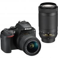 Câmera Nikon D5600 Com 18-55mm Vr + 70-300mm Ed