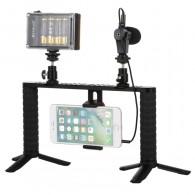 Kit Youtuber 4 em 1 Para Smartphone Puluz com Microfone
