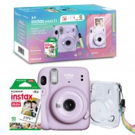 Kit Câmera Instax Mini 11 + Filme + Bolsa - Lilas