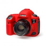 Capa / Case Silicone Para Proteção Canon 5d Mark Iv Vermelho