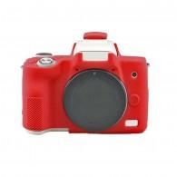 Capa / Case Silicone Para Proteção Canon Eos M50 - Vermelho