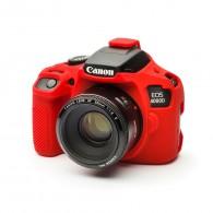 Capa / Case Silicone Proteção Canon T100 / 4000D - Vermelha