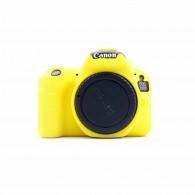 Capa / Case Silicone Para Proteção Canon SL2 / 200d Amarela